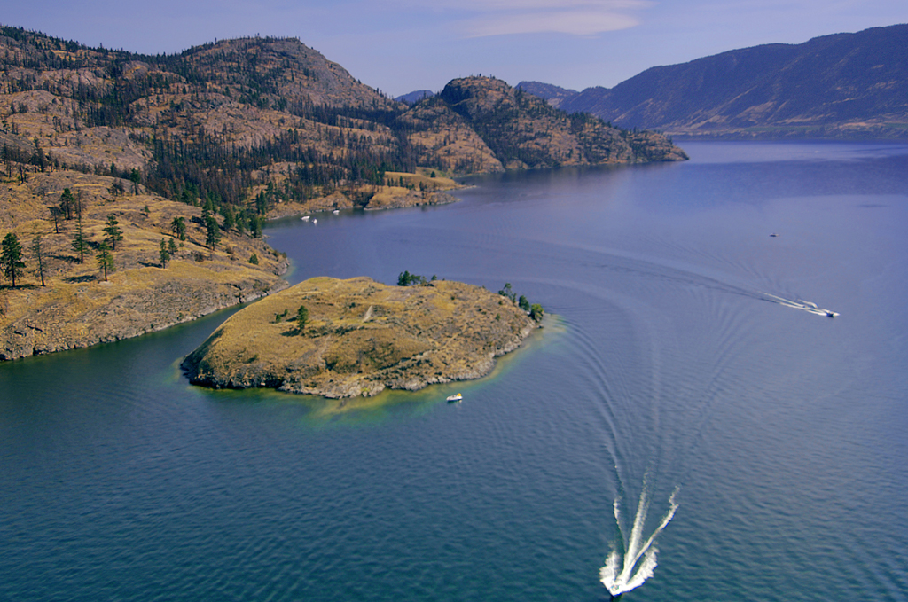 Aerial view of Rattlesnake Island